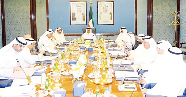 HH the PM Sheikh Jaber Al-Mubarak chairs the weekly Cabinet meeting