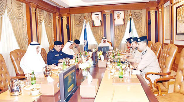 Deputy Prime Minister and Minister of Interior Sheikh Mohammad Al-Khalid chairs the meeting of Assistant Undersecretaries which was convened to discuss readiness of security forces to maintain peace and harmony during the month of Muharram which begins Wednesday, Oct 14.