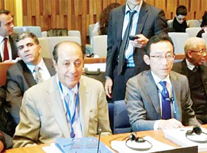 Dr Hassan Al-Ibrahim during the 197th session of UNESCO's Executive Council in Paris