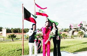 Kuwaiti female shooters Asmaa Al-Qatami and Shahd Al-Hawal snatch two medals in the 12th Arab tourney in Rabat. (KUNA)