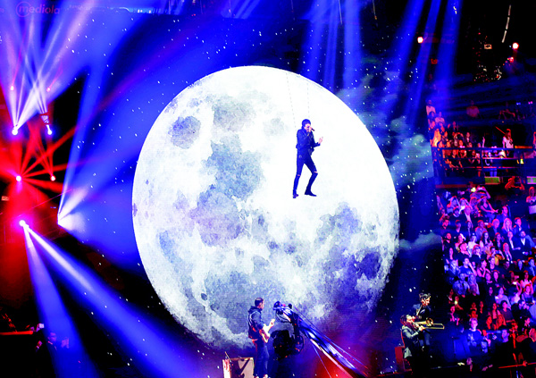 Artists perform at the MTV Europe Music Awards in Milan, Italy, on Oct 25.