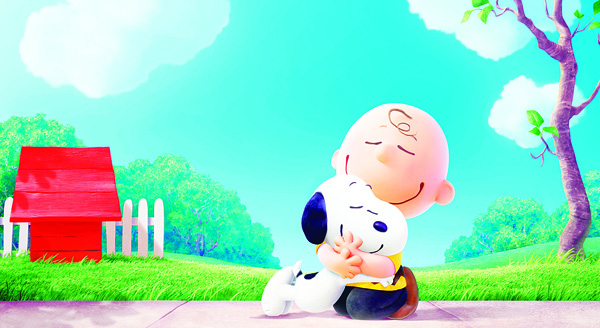 This photo provided by Twentieth Century Fox Film Corporation shows Snoopy and Charlie Brown from Charles Schulz's timeless 'Peanuts' comic strip in their big-screen debut in a CG-animated feature film in 3D, 'The Peanuts Movie.' Millions of unique Peanuts characters have been created since the 'Peanutize Me' app launched last month. Fox plans to update the site this week with Halloween-themed content to continue building buzz for the film's Nov 6, 2015 release. (AP)