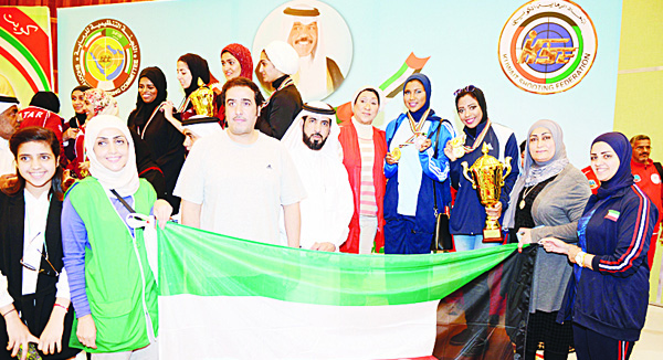 Photo taken during the His Highness the Crown Prince Cup and the 13th Shooting championship awarding ceremony.