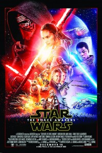 This undated photo provided by Disney shows the poster for the new film, 'Star Wars: The Force Awakens'. (AP)