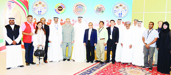 Heads of delegation taking part in the Asian Shooting Championship.