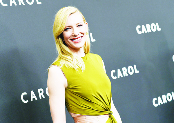 Actress Cate Blanchett attends the premiere of 'Carol' at the Museum of Modern Art on Nov 16, in New York. (AP)