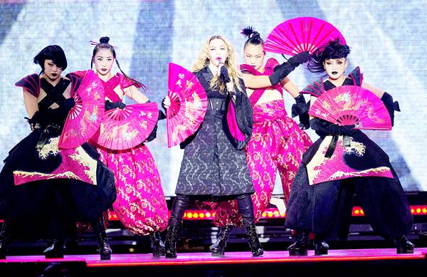 Madonna performs in concert on Nov 16, in Herning. (AFP)