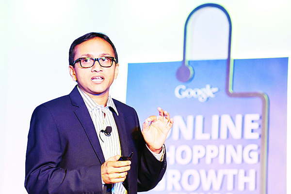 In this photograph taken on Nov 10, 2014, Industry Director for e-commerce, local and classified, Nitin Bawankule addresses the media during the launch of Google's online shopping trend reports in New Delhi.  Hundreds of layoffs at several Indian start-ups have sparked fears the bubble is starting to burst for India's e-commerce companies amid claims by analysts that many of them are overvalued Nov 20. (AFP)