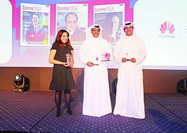 Ooredoo officials with the Awards.