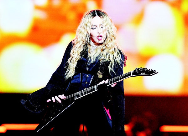 In this Nov 7 picture, Madonna performs during her 'Rebel Heart Tour' in Prague, Czech Republic. (AP)
