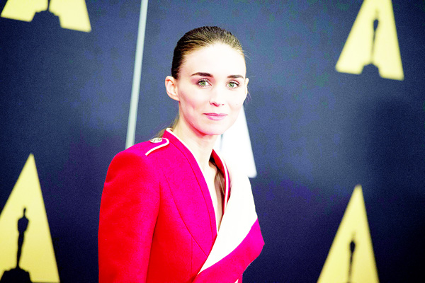 Actress Rooney Mara attends the 7th Annual Governors Awards honoring Spike   Lee, Gena Rowlands and Debbie Reynolds, in Hollywood, California. (AFP)