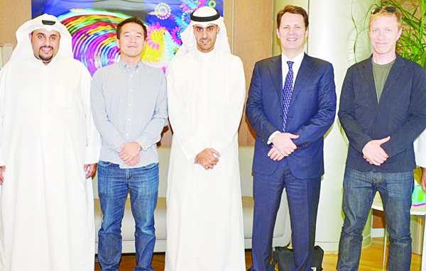 Al Kharafi and Gegenheimer with Kawano, Donnelly and Al Ebrahim.