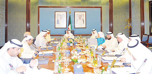 HH the Prime Minister chairing Monday's Cabinet meeting