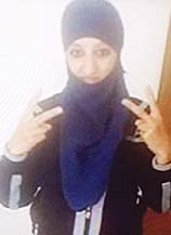 Photo shows Hasna Ait Boulahcen, the woman believed to have blown herself up during police raid in Paris.