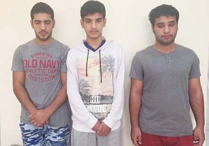 Some of the youths arrested for reckless driving and attacking the police officers