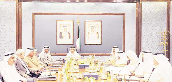 HH the PM Sheikh Jaber Al-Mubarak Al-Sabah chairs the weekly Cabinet meeting