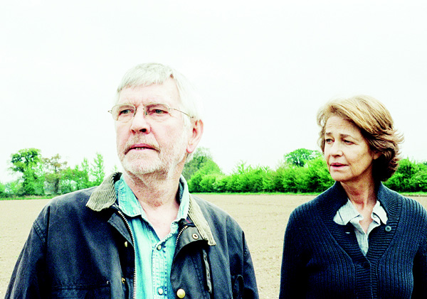 This photo provided by Agatha A. Nitecka shows Tom Courtenay (left), as Geoff and Charlotte Rampling as Kate in Andrew Haigh's film, '45 Years,' a Sundance Selects Release. (AP)