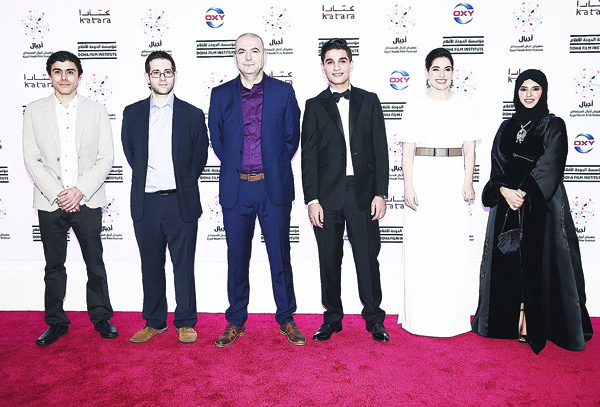 'The Idol' cast and crew at the third Ajyal Youth Film Festival