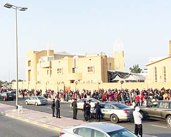 Kuwait security forces are seen during an inspection tour of churches and other Christian places of worship on Dec 25