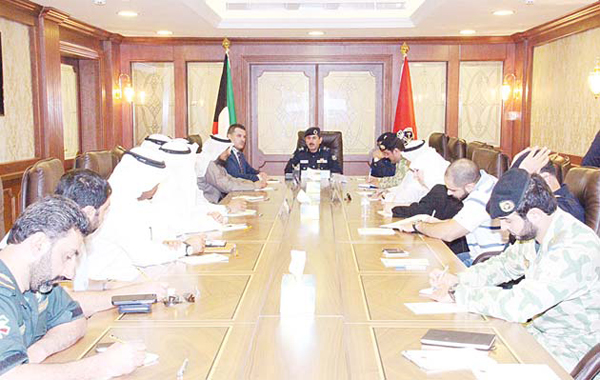 Acting Director of Kuwait Fire Service Directorate (KFSD) Major General Khalid Al-Mekrad held a coordinative meeting concerning the 'Shamel 2' drill which will be carried out on Dec 10 in cooperation with the concerned governmental authorities.