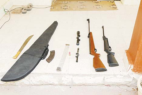 Some of the weapons seized.