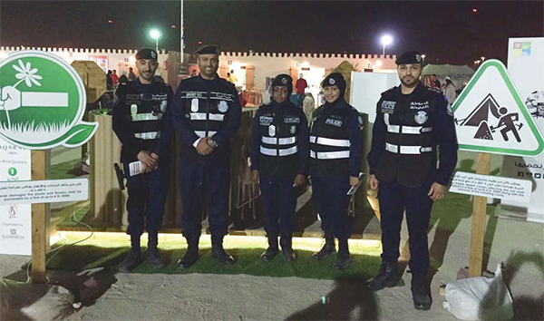 Environment policemen at the MoI camp - Campers told to protect environment