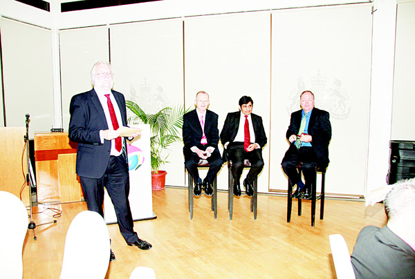 From left: Donald Teale, Terry O'Regan, Zubair Patel and Robert Drolet during a panel discussion on Kuwait Taxation.
