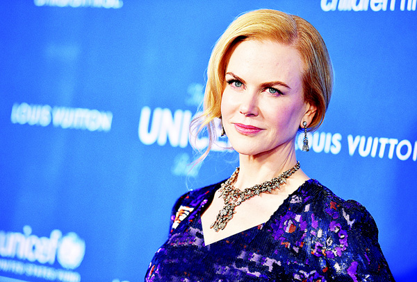 Nicole Kidman arrives at the The Sixth Biennial UNICEF Ball at the Beverly Wilshire Four Seasons Hotel on Jan 12, in Beverly Hills, Calif. (AP)