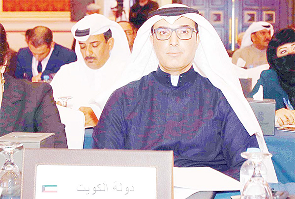 Talal Al-Mutairi attending the OHCHR conference in Doha.