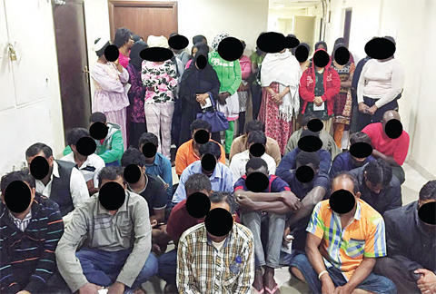 Some of the absconding women and men arrested in raid