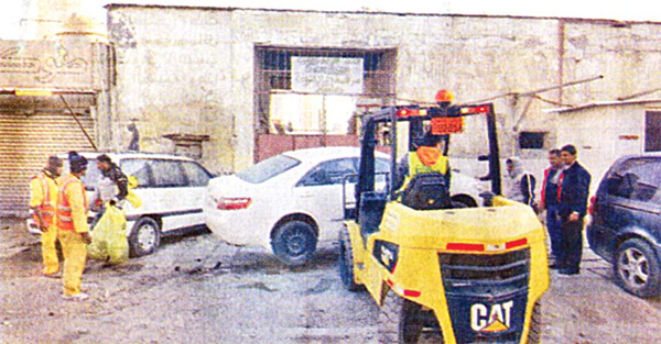 Some of the neglected vehicles being seized