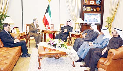 Deputy Foreign Minister Khaled Sulaiman Al-Jarallah meets with Iran's Ambassador Ali Reda Enayeti.