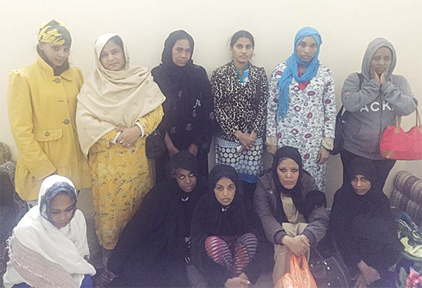 Maids found in fake domestic office.