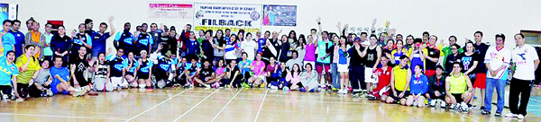 FILBACK participants pose for a group photo during the one-day tournament.