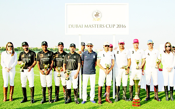 The winning teams with Mohammed Al Habtoor.