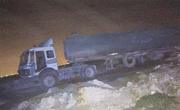 The trucker caught dumping waste