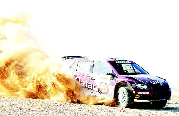 A file photo of Nasser Saleh Al-Attiyah in action.