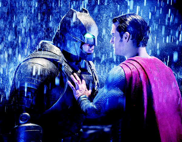 This image released by Warner Bros Pictures shows Ben Affleck (left), and Henry Cavill in a scene from 'Batman vs Superman: Dawn of Justice'. (AP)