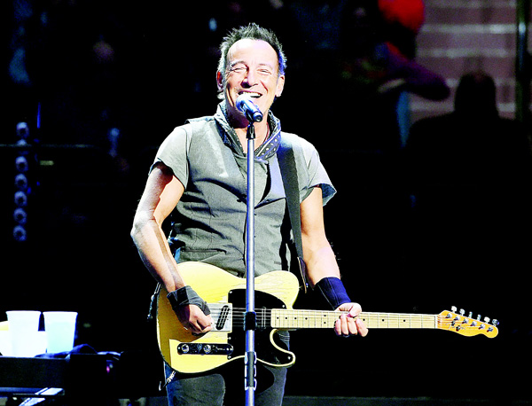 Bruce Springsteen performs onstage at Madison Square Garden on March 28 in New York City. (AFP)