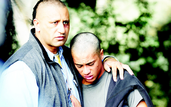 In this image released by Broad Green Pictures, Cliff Curtis (left), and James Rolleston appear in a scene from 'The Dark Horse'. (AP)