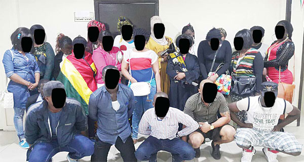 Photo shows 22 arrested Ghanaians
