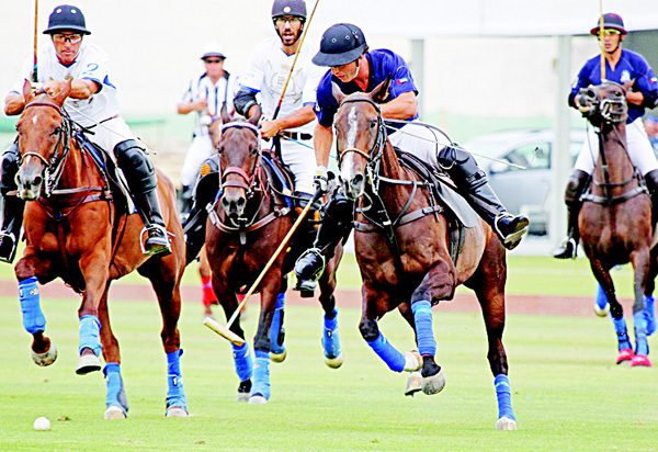 An action photo taken during Habtoor vs Bin Drai match.