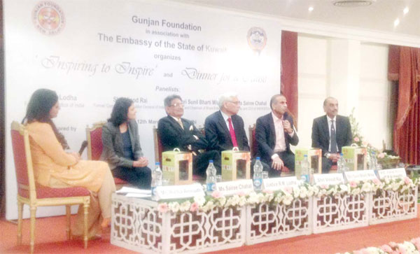 Kuwait Ambassador to India Fahad Ahmed Al-Awadi during a panel discussion on 'Inspiring to Inspire