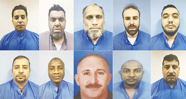 The arrested gangsters for money laundering