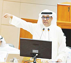 MP Ahmed Al-Qudaibi during the grilling session