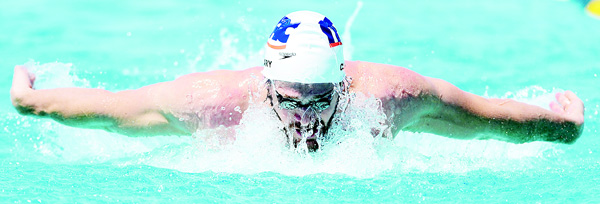 Tyler Clary competes in the Men 400 LC Meter IM prelims at Skyline Aquatic Center on April 14, in Mesa, Arizona. (AFP)