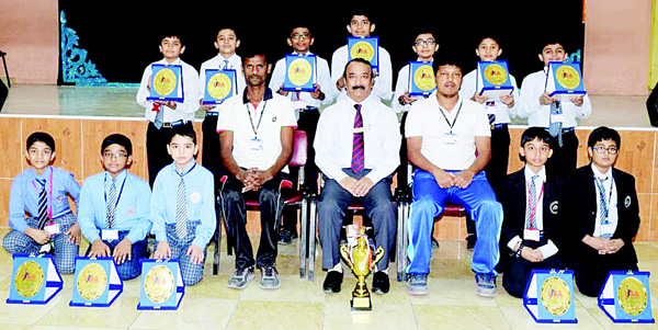 Under-12 boys team, winners of the tournament