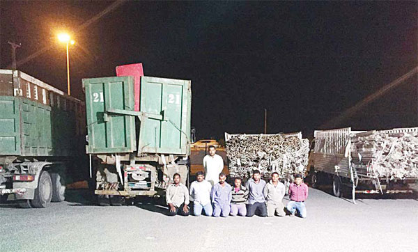 The gang members arrested for stealing 26 tons aluminum.