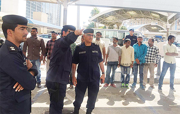Some of the illegal foreigners rounded up by police