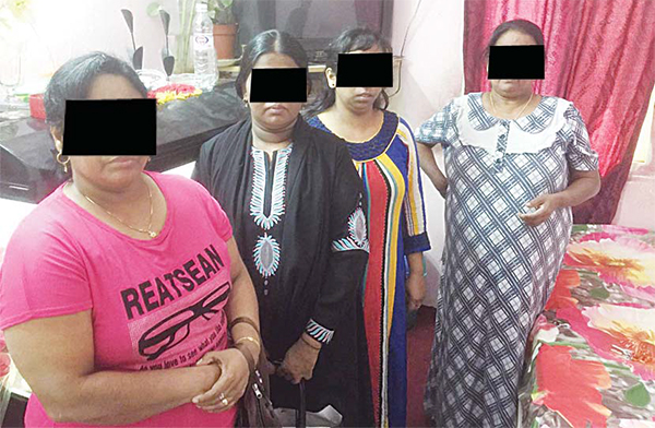 Four Sri Lankan women arrested during a raid in Hassawi